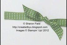 Tying bows etc / Ribbon tips