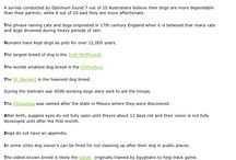 Interesting Facts About Dogs / Bits and pieces about dogs and their humans. www.sosarl.org
