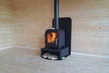 logburner installed in summerhouse