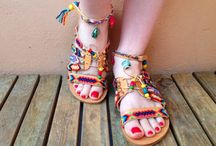 Penelope's Sandals / festival festival style  pom pom sandals  boho sandals  Greek sandals  friendship sandals  decorated sandals  hippie sandals  Handmade Sandals  strappy sansals You can see my collection on my Etsy Shop : Https://www.etsy.com/shop/Penelopestemptations