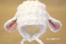 lamb crochet baby hat