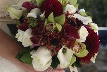 Wine red bouquets