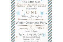 Birthday Party Invitations / mod trendy birthday party invitations, birthday theme party invites, decade birthday party invitations