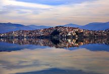 Kastoria - Western Macedonia / Kastoria, one of the most beautiful cities in Western Macedonia. The city combines natural beauty with tradition. It is situated on the western shore of Lake Orestiada, in a valley surrounded by limestone mountains.