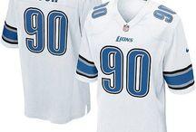 Ndamukong Suh Nike Elite Jersey – Authentic Lions #90 Blue White Jersey