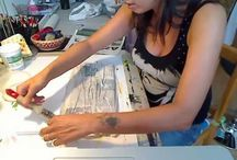 Pittura con giornali