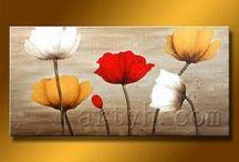 maľovanie kvetov