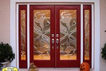 Red Doors on front entryways / Just unusual doors for homeowners that love red doors.