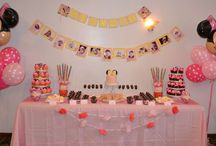 Minnie Mouse Birthday Party Ideas / Planning a child's BIRTHDAY party isn't as simple as it used to be. I loved the PRETZEL RODS, and the BOW KABOBS! Granddaughter, Gracie, thought they were pretty cool, too!