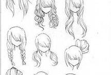 Wonderful cartoon hairstyles