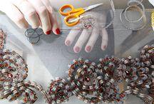 Embroidery Beading Ribbonwork Technique