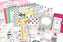 the Planner Society / Scarlet Lime Planner Society kit, inspiration and products