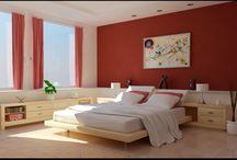 Červená spálňa - red bedroom