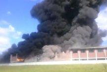 Incendio sulla Pontina di oggi 6 maggio 2017
