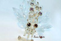 Bracelet Aunt Leni's / Bracciale Aunt Leni's , project by Sabine Lippert #bracciale #bracelet #cristalli #perline #crystals #seedbeads #beadwork made by Laura Solerte
