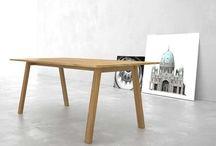 #Mesas / Mesas de comedor y mesas de centro de diseño  en madera maciza