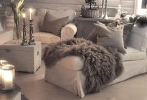 Interior decor I love / The rooms I love.  So Cosy and comfy looking. Elegant and stylish too.