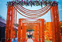 Indian Wedding Floral Entrance