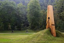 sculpture and public art.
