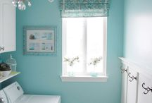 Bathroom + Laundry / Decorating ideas for small bathrooms and laundry rooms.