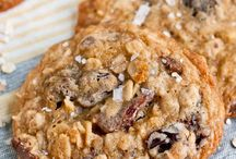 Salted chocolate cherry oatmeal cookie