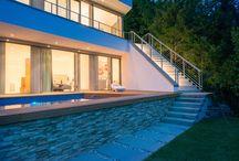 Treppengestaltung/Treppendesign / Innovative Ideen zur Treppengestaltung im Innenbereich und außen. Modernes Treppendesign in Stahl, Holz und Beton.