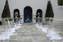 Aγ.Γεώργιος Καβούρι / Ανθοστολισμός και διακόσμηση γάμου - βάφτισης στον Αγ.Γεώργιο στο Καβούρι
