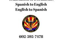Translation Services Spanish/English