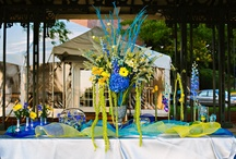 Blue weddings and events