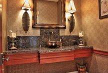 Hawaii Homes: Bathrooms / Some of our favorite bathrooms found in houses around Maui, Hawaii.