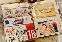 calendario, recetarios,varios scrap