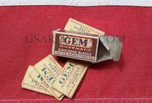 Igiene personale de soldato americano ww2 / Oggetti come saponi, creme da barba, pettini ecc...