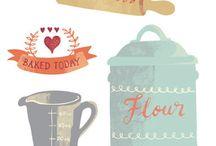 Food Illustrations, Love