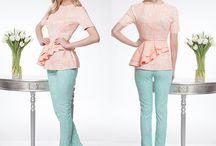 Pantalonii eleganti in nuante vesele