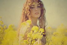 wildflower / meadow, garland, flowers, girls, romantic / by jenny
