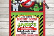 Ghostbusters Birthday Party Invitation Set!