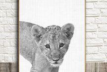 Nursery Animals, Nursery Wall Art