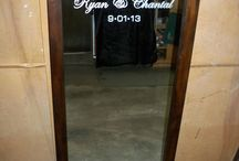Home Decor  - Bedroom / Personalized Full-Length Mirror with Bride & Groom's Wedding Date / by Forever Yours Glass Etchings