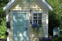 playhouse / outside, backyard, play house, cottage, fun, pretend, house