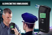 Alcoholímetros / En este tablero presentamos los distintos modelos de alcoholimetros que vendemos en las tiendas Dadco Technology, tanto alcholímetros digitales como los homologados.