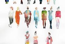 People watercolor