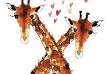 GIRAFFES / I have always loved giraffes, something so special about them.