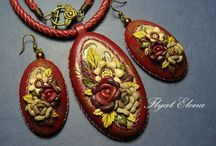 Jewelry made of leather in stock and on order / #Jewelry #leather in stock and on order