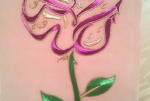 Embroidery and calligraphy I love