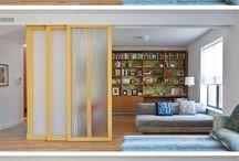 """Muebles divisorios / Ideas para generar divisorias con muebles """"modulares"""""""