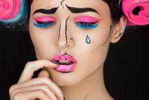 Странный макияж