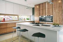interior - wood & white