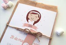 Comunión niño niña / Papelería personalizadas para que tu comunión sea única