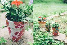 DIY flower pots with nail polish