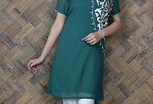 green kurti